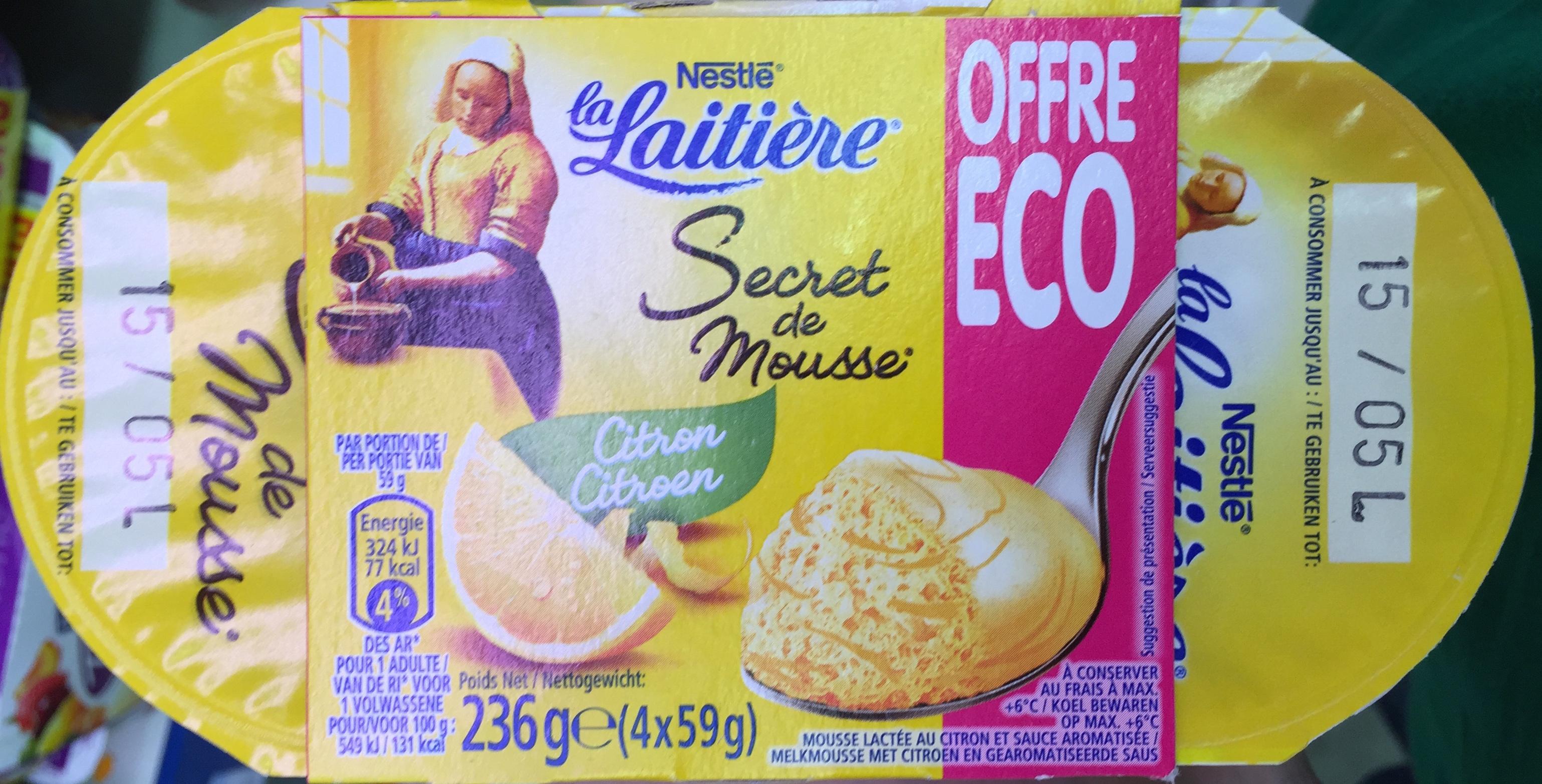 Secret de Mousse Citron (4 Pots) Offre Eco - Product - fr