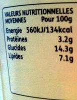 Rachel's - le brassé biologique gingembre - Nutrition facts - fr
