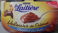 Velours de Crème (Chocolat au lait) 4 Pots - Produit - fr