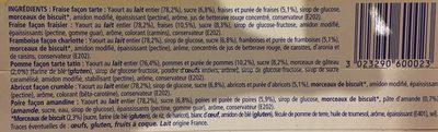 Yaourts Pâtissiers (12 Pots) - Ingrédients