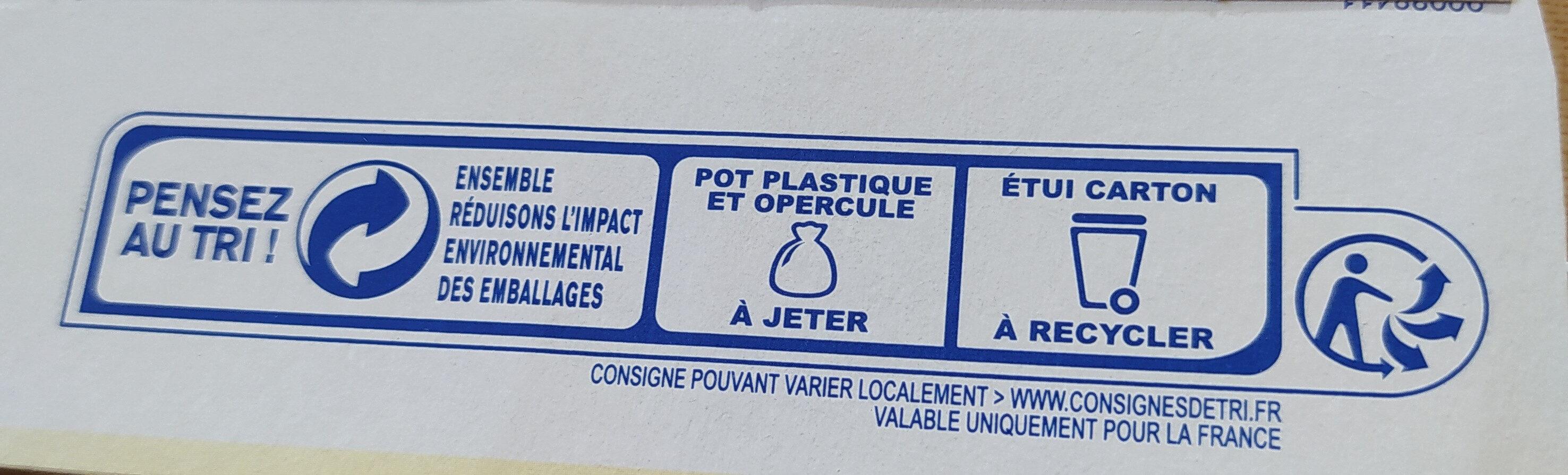 Yaourts Pâtissiers - Instruction de recyclage et/ou information d'emballage - fr