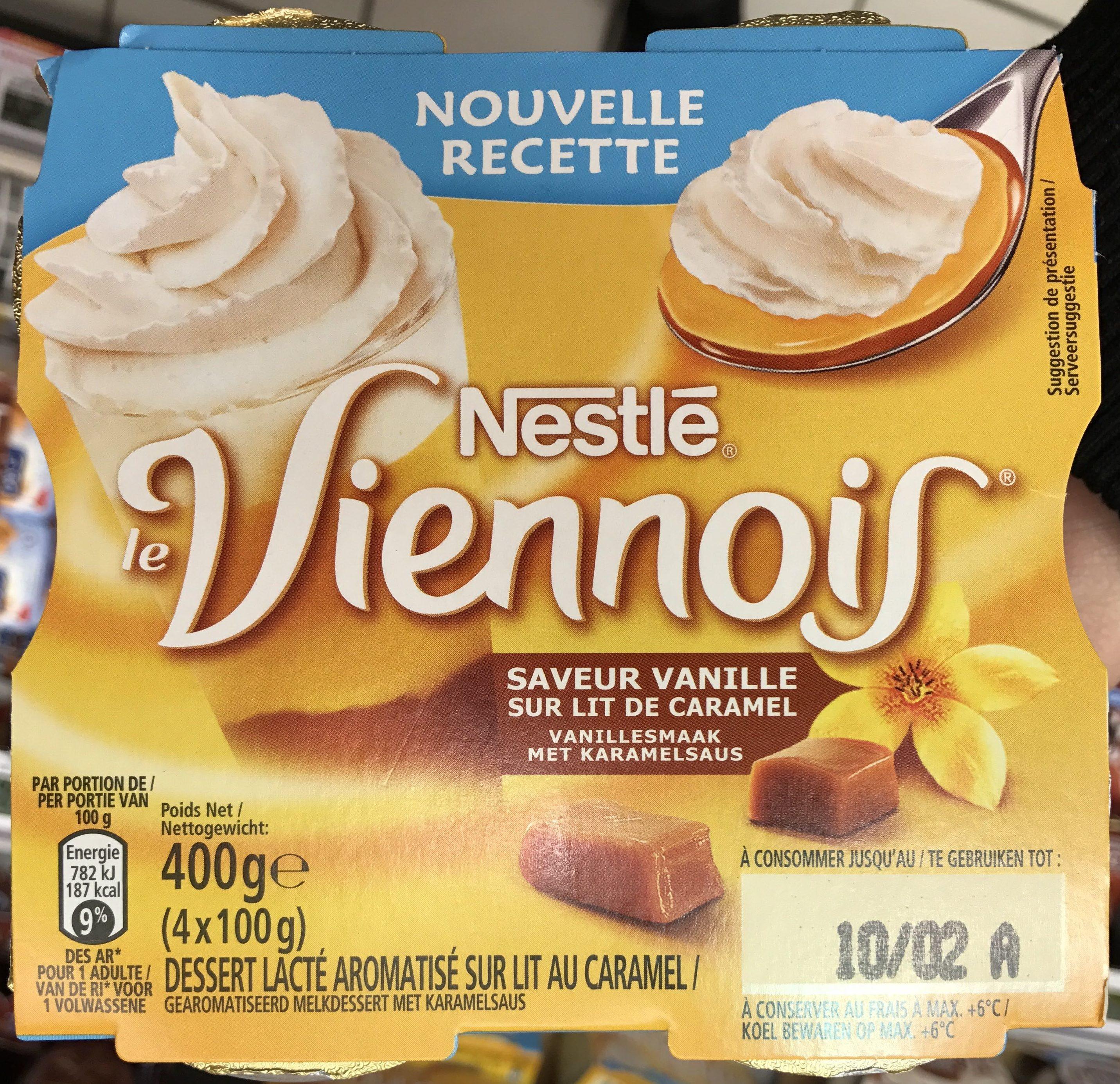 Le Viennois saveur Vanille sur Lit de Caramel - Product