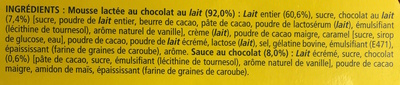 La Laitière Secret de Mousse Chocolat au Lait (format familial) - Ingredients