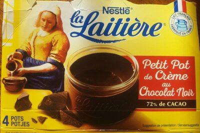 Petit pot de creme au chocolat noir - Produit - fr