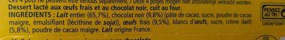 Petit pot de creme au chocolat noir - Ingrédients - fr