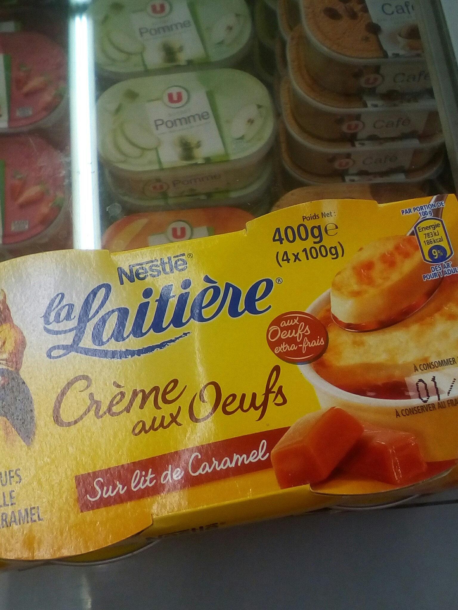 Crème aux Oeufs sur lit de Caramel (4 pots) 400 g - La Laitière - Product