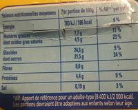 Crème aux oeufs sur lit de caramel - Nutrition facts
