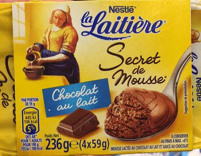 Secret de Mousse Chocolat au Lait (4 Pots) - Product