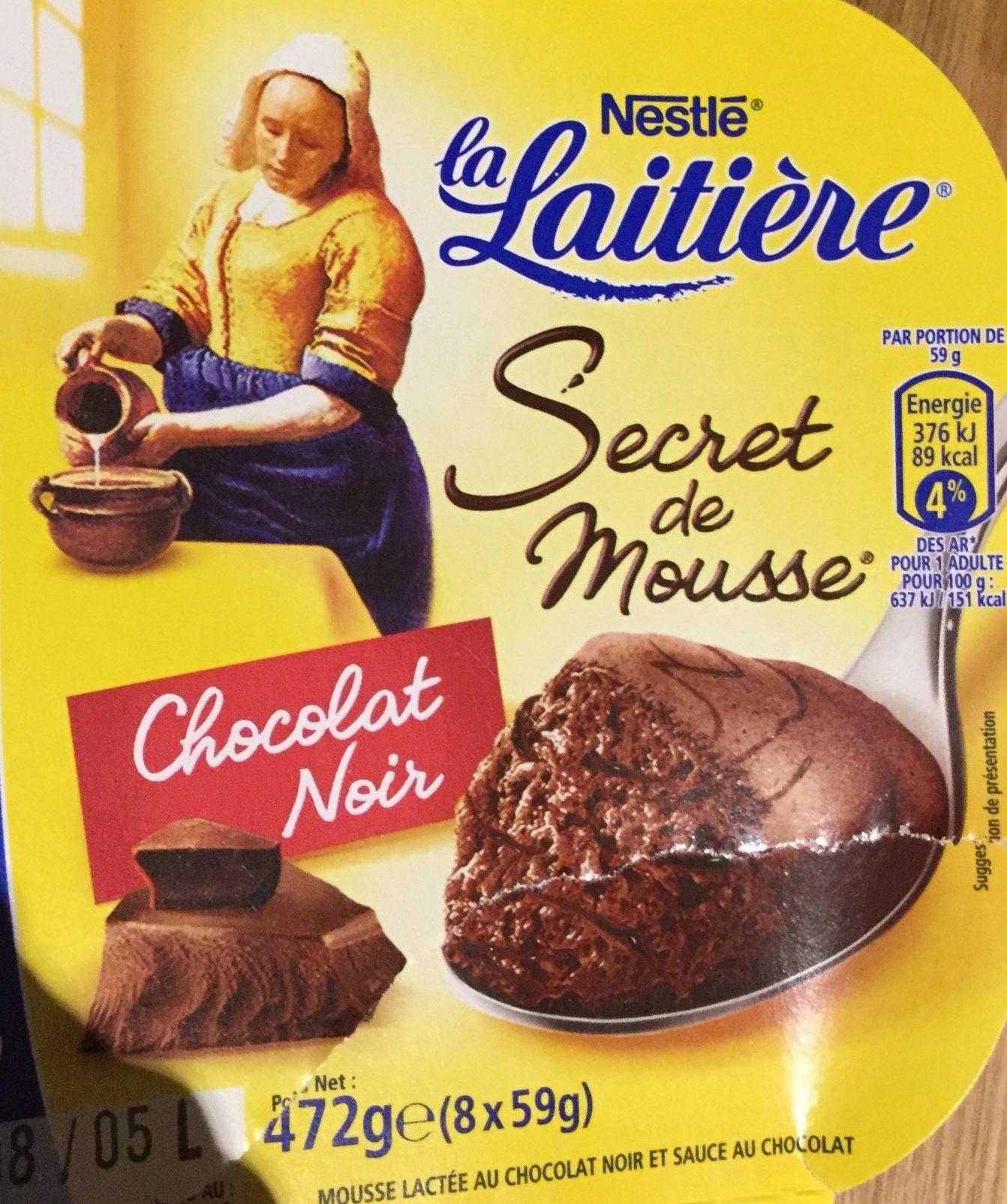 Secret de Mousse Chocolat Noir - Product