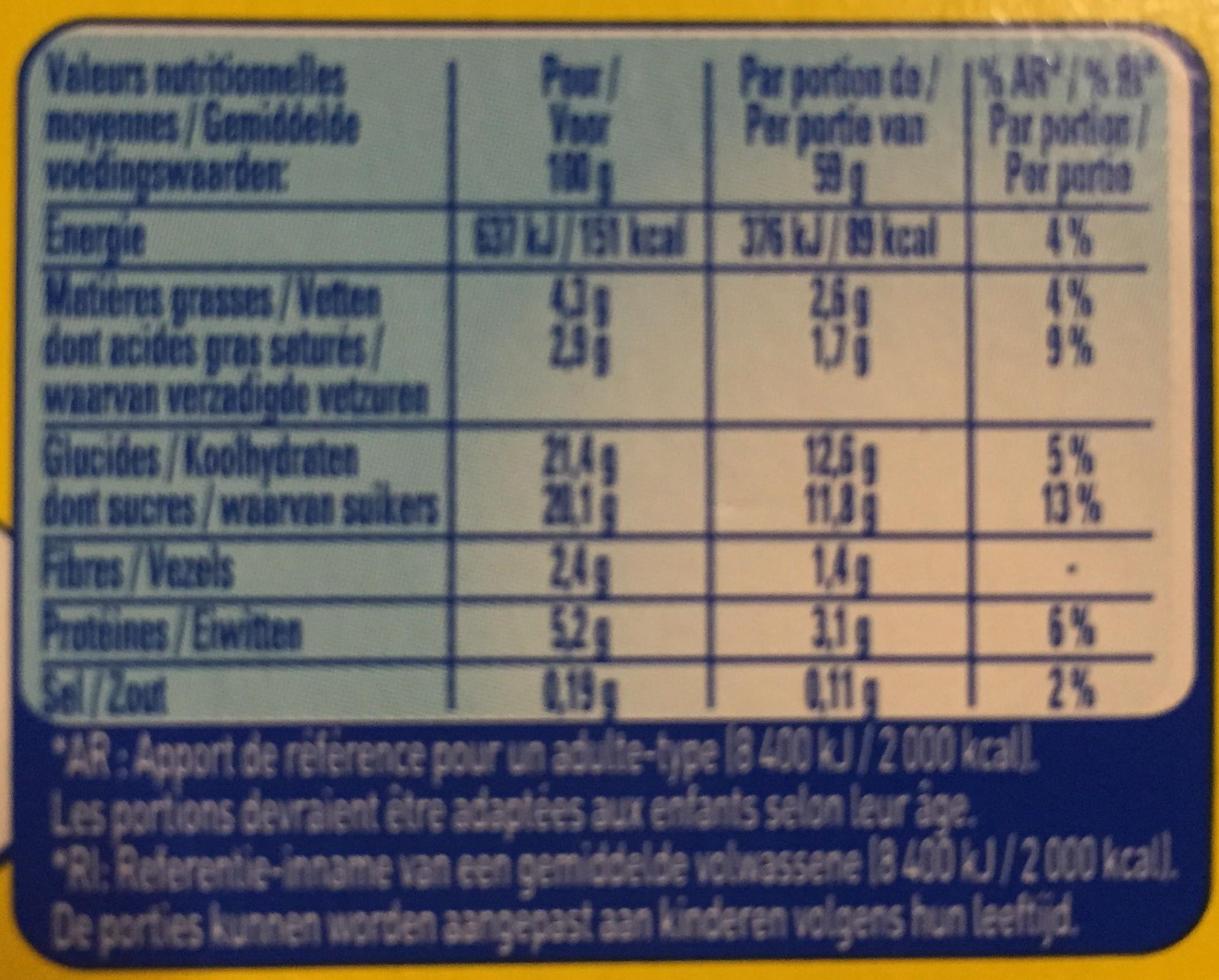 Secret de Mousse Chocolat Noir - Nutrition facts