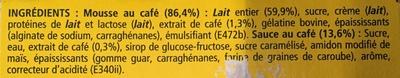 Secret de mousse - Ingredients - fr