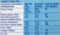Secret de mousse - Nutrition facts - fr