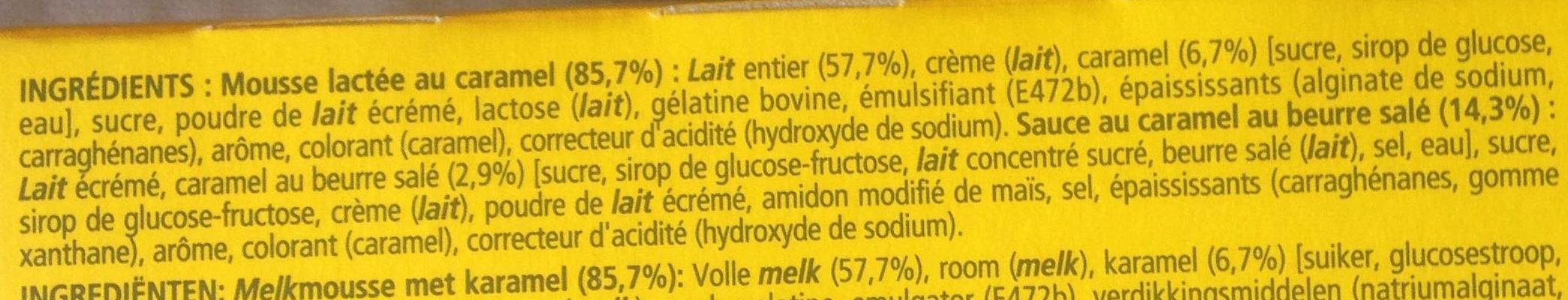 Secret de Mousse Caramel Beurre Salé - Ingredients