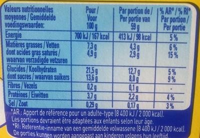 Secret de Mousse Caramel Beurre Salé - Nutrition facts