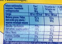 Crème dessert Craquante Saveur Vanille - Nutrition facts