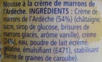 MaronSui's - Ingrediënten - fr