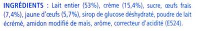 Le Petit Pot de Crème Saveur Vanille - Ingrédients