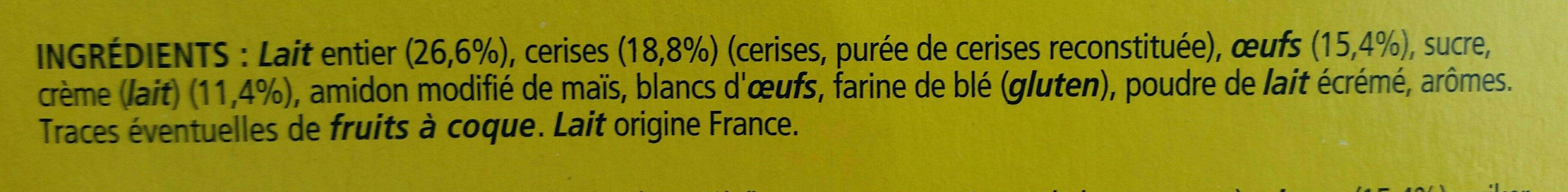 La Laitière clafoutis aux cerises - Ingrediënten - fr