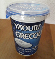 Yaourt à la Grecque Nature - Produit - fr