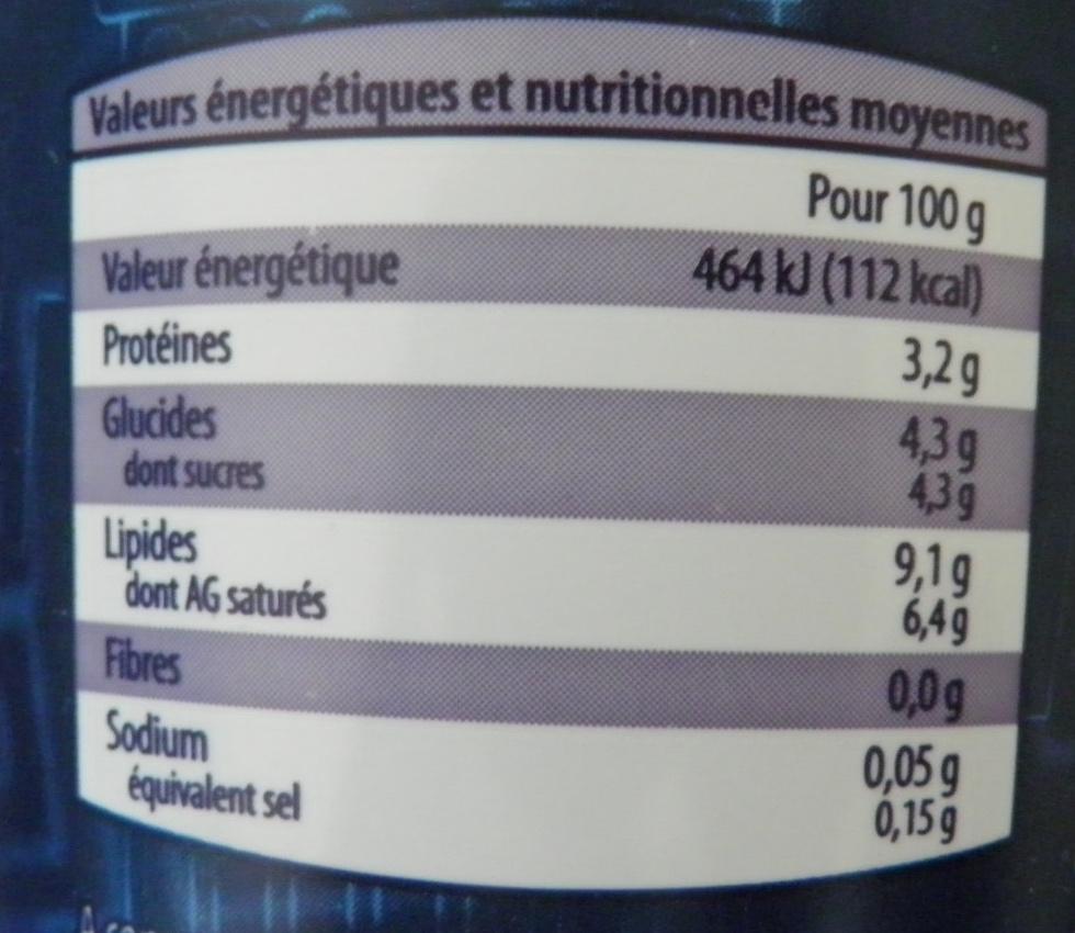 Yaourt à la Grecque Nature - Informations nutritionnelles - fr