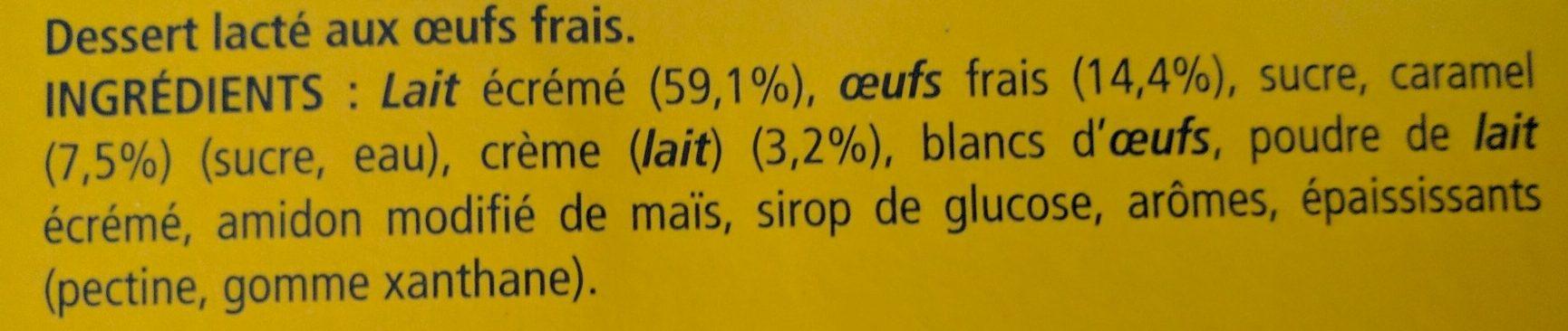 Crème Caramel Cuite & Dorée au four - Ingrédients - fr