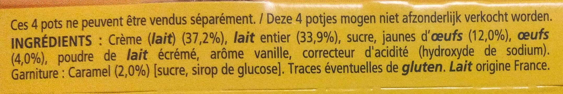 Crème brûlée - Ingrédients - fr