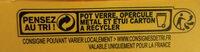 Crème brûlée - Instruction de recyclage et/ou information d'emballage - fr