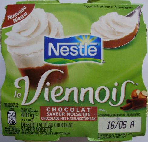 Le Viennois Chocolat Saveur Noisette - Product - fr