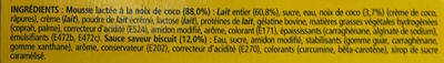 Secret de Mousse Saveur Rocher Coco (4 Pots) - Ingrédients