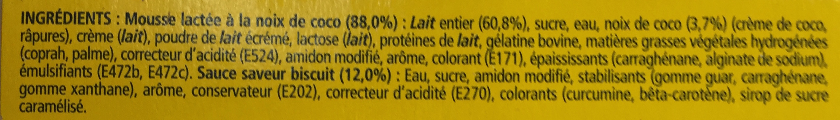 La Laitière secret de mousse saveur Rocher coco - Ingrédients - fr