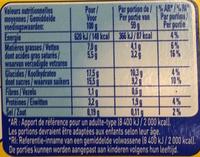 Secret de Mousse Saveur Rocher Coco (4 Pots) - Informations nutritionnelles