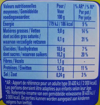 Le Petit Pot de Crème, Saveur Chocolat Noisette (4 Pots) - Voedigswaarden