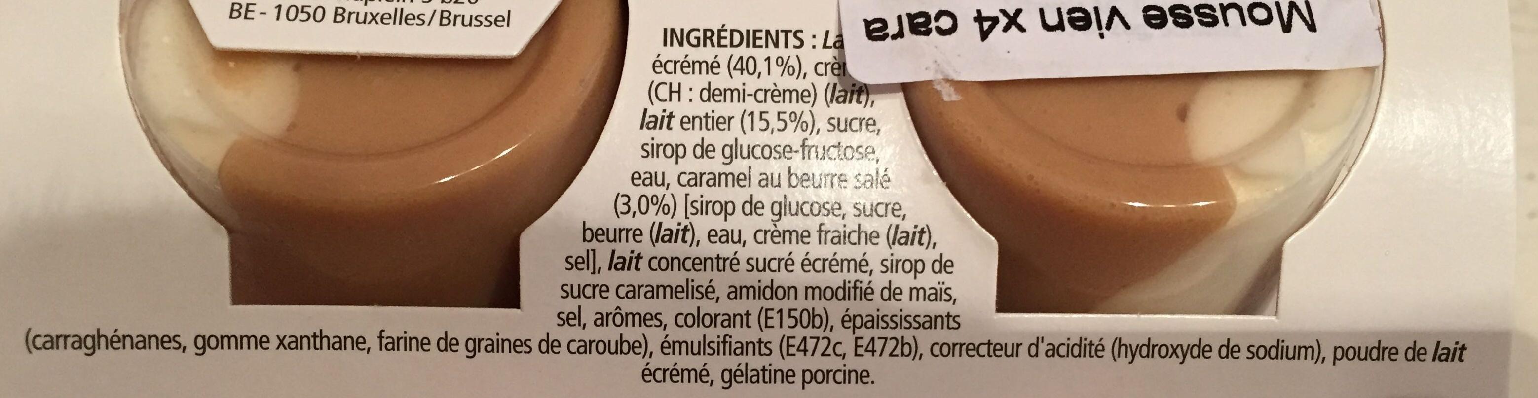 Mousse de Viennois (4 Caramel) - Ingredients