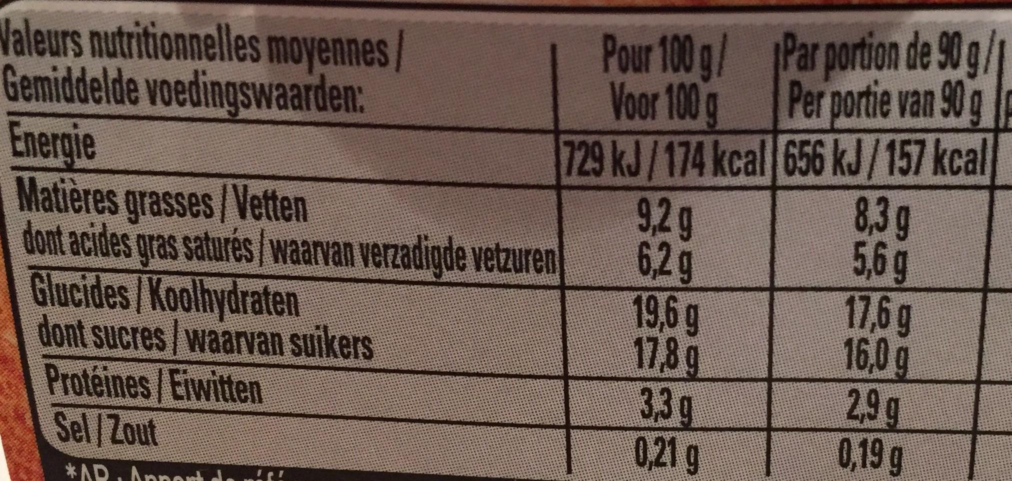 Mousse de Viennois (4 Caramel) - Nutrition facts