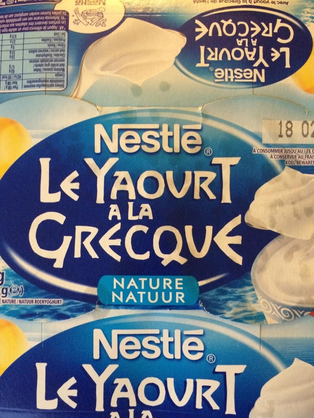 Le Yaourt à la Grecque Nature - Product - fr