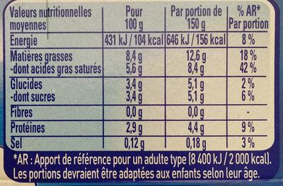 Le Yaourt à la Grecque Nature - Nutrition facts - fr