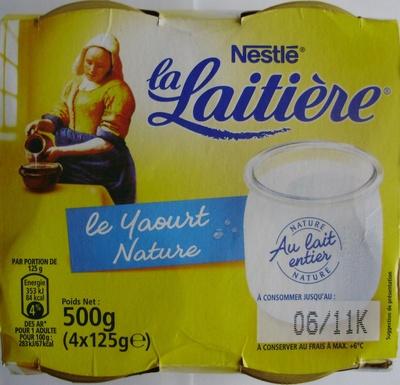 Le Yaourt Nature (4 Pots) - Produit - fr