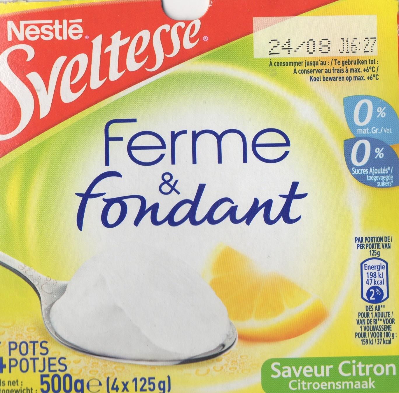 Ferme & Fondant saveur citron - Product