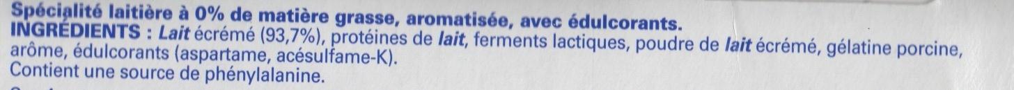 Ferme & Fondant saveur citron - Ingrediënten