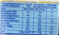 Ferme & Fondant saveur citron - Voedingswaarden