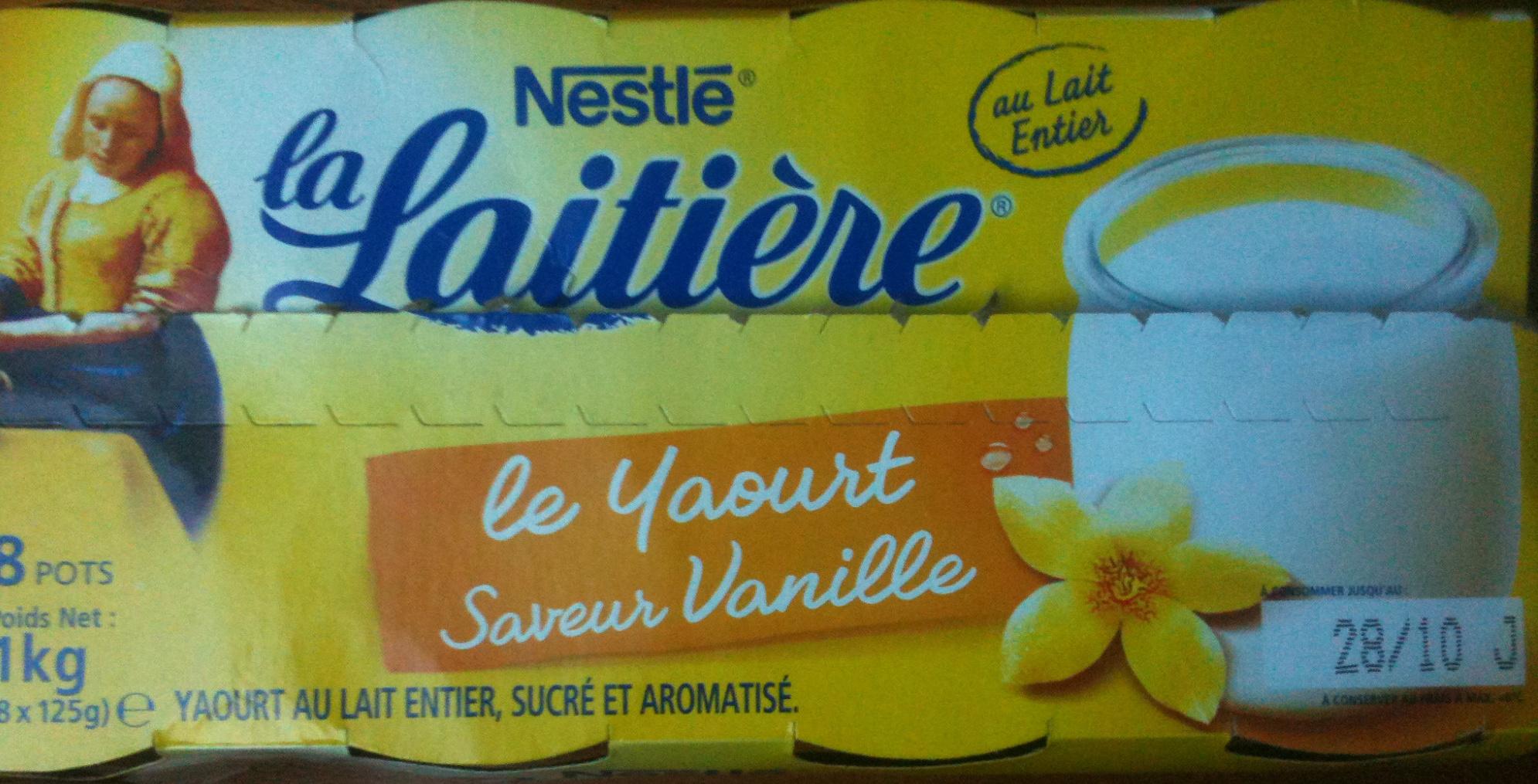 Le Yaourt, Saveur Vanille (8 Pots) - Produit
