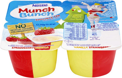 Munch Bunch Double Up Strawberry & Vanilla - Product