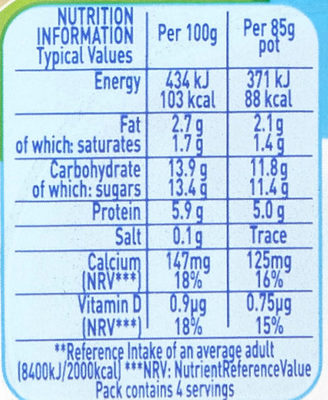 Munch Bunch Double Up Strawberry & Vanilla - Nutrition facts