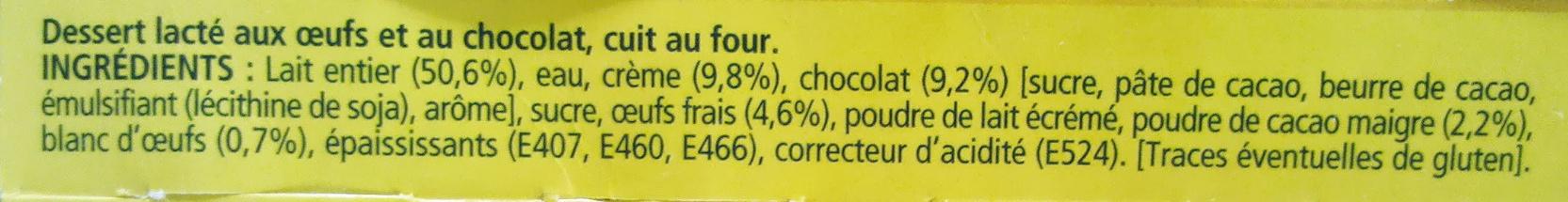 Le Petit Pot de Crème au Chocolat (4 Pots) - Ingredients