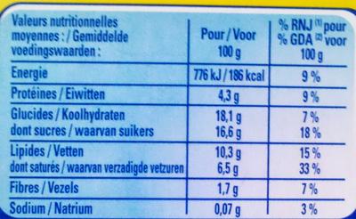Le Petit Pot de Crème au Chocolat (4 Pots) - Nutrition facts