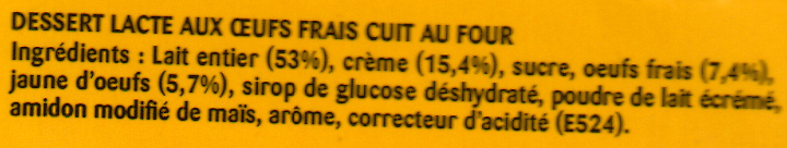 Le Petit Pot de Crème, Saveur Vanille (4 Pots) - Ingrédients