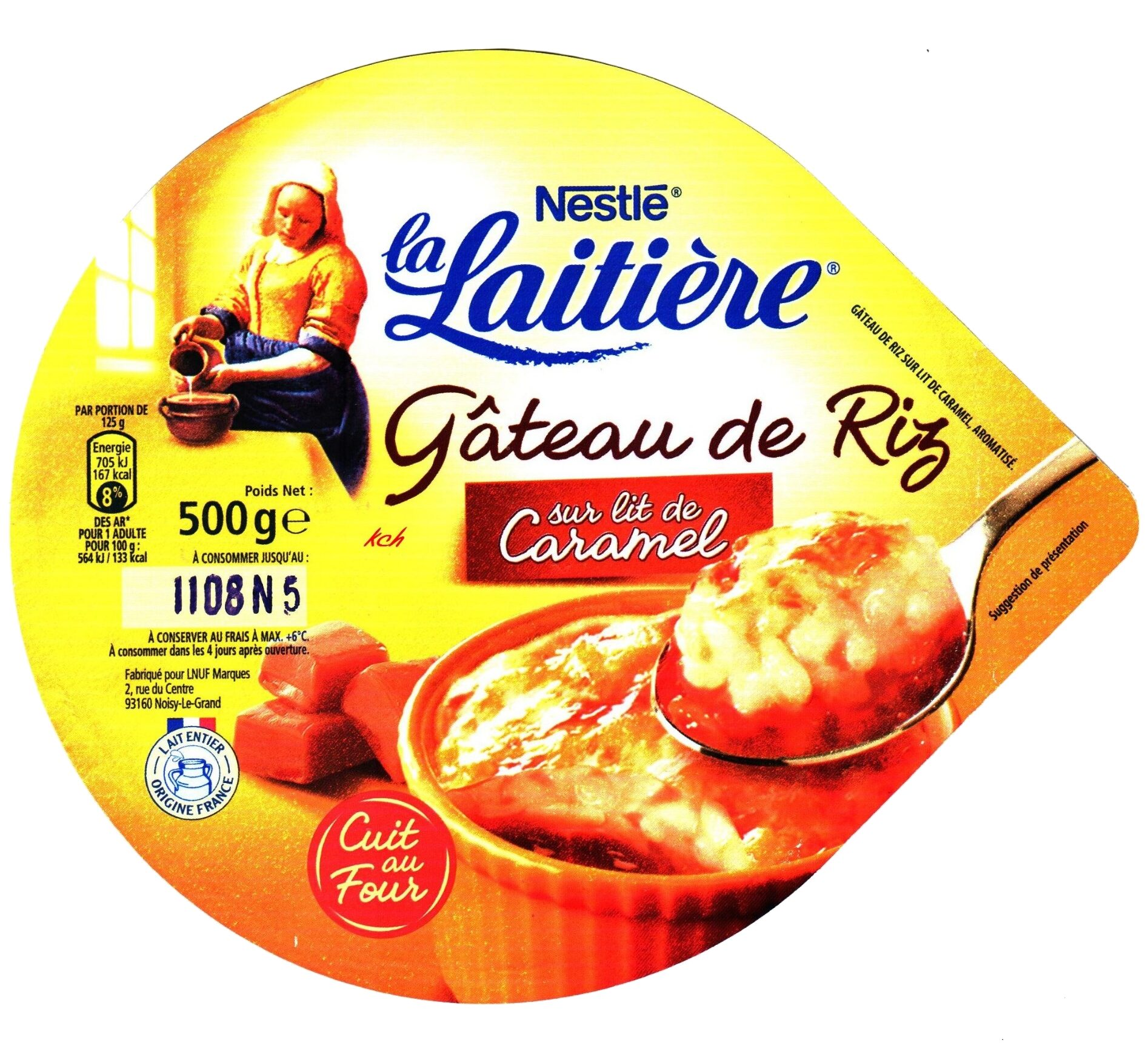 Gâteau de Riz sur lit de Caramel cuit au Four - Product