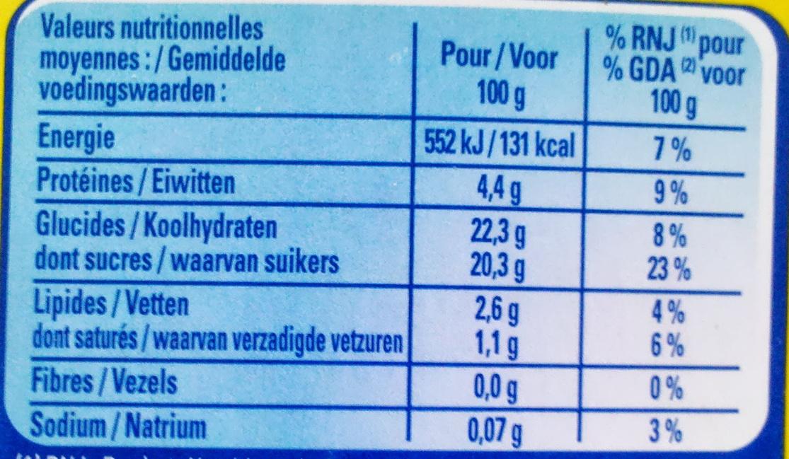 Crème Caramel, Cuite & Dorée au four (4 Pots) - Nutrition facts