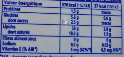St Hubert 41 (Doux, Léger & tendre), (38 % MG) - Nutrition facts