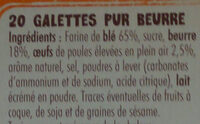 galettes st michel - Ingrédients - fr
